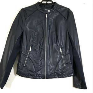 Kenneth Cole Black Moto Jacket